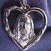 "Jesus in my Heart - Sterling Silver Pendant & 18"" Chain"