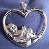 "You Grew in my Heart  - Charm (¾"" x ¾"") &  18"" Chain"