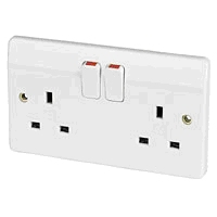 SOCKET OUTLET 13 AMP - White
