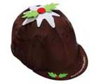 Carrots Xmas Pudding Horse Riding Hat Cover