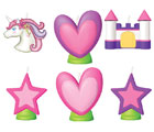 Magical Unicorn 6 Moulded Candles